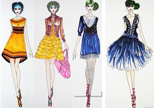 上海非凡进修学院--服装设计培训教程-时装画的技法